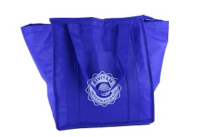 NEW WAVE INSULATED SHOPPER BLUE TOTE