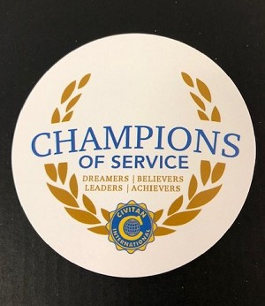 Champions of Service Sticker 3 Inch