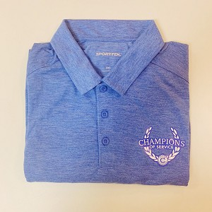 2XL Men's Heather Royal Polo Shirt