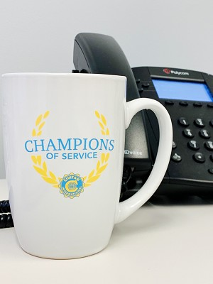 Champions of Service White Coffee Mug (25% off!)