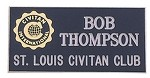 ENGRAVED NAME BADGE (Name and Club name)