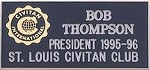 ENGRAVED NAME BADGE (Name, club name and office held)