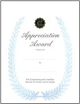 APPRECIATION AWARD CERTIFICATE