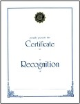 RECOGNITION AWARD SCROLL