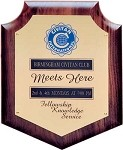 CIVITAN MEETS HERE PLAQUE