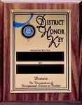 DISTRICT HONOR KEY PLAQUE