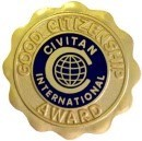 CITIZENSHIP AWARD PIN GOLDTONE