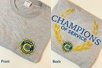 Medium Champions Of Service Soft Gray T-Shirt