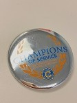 Champions of Service Button (Silver) - 50% off