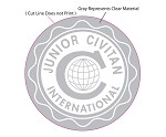 JR CIVITAN STICKER, WHITE