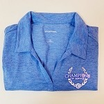 3XL Ladies Heather Royal Polo Shirt