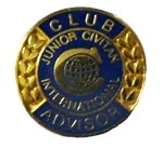 CLUB ADVISOR PIN (Junior Civitan)